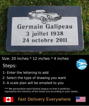 Flat Granite Marker #026