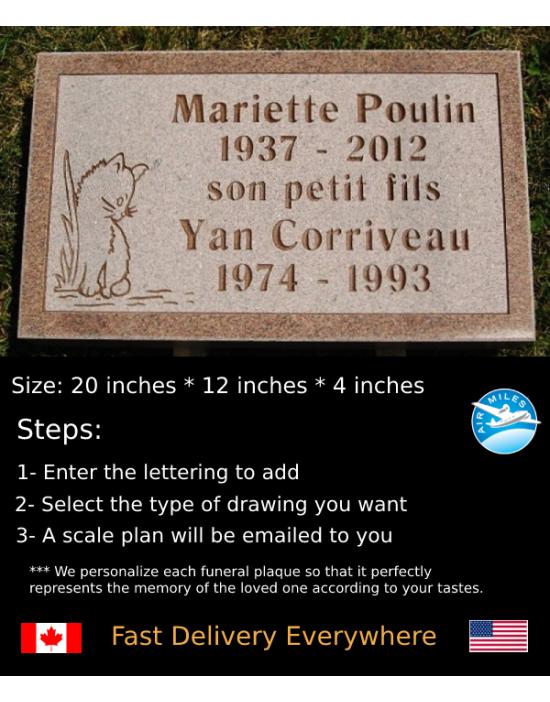 Flat Granite Marker #027
