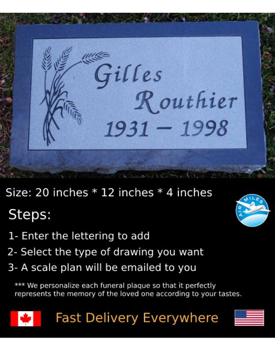 Flat Granite Marker #035