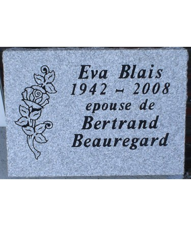 Granite Memorial Plaques #017